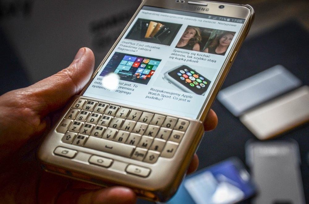 Samsung Galaxy Note 5 w etui z klawiaturą