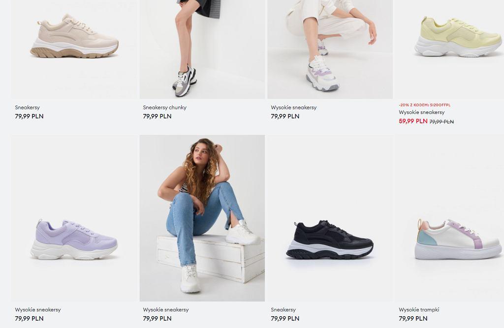 Sneakersy na wysokiej podeszwie