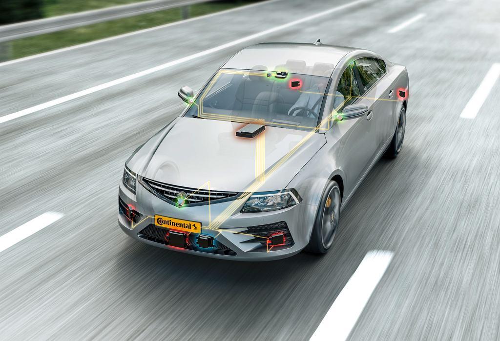 Urządzenia Continental w nowoczesnym samochodzie