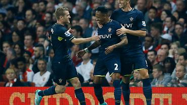 Piłkarze Southamptonu w meczu z Arsenalem