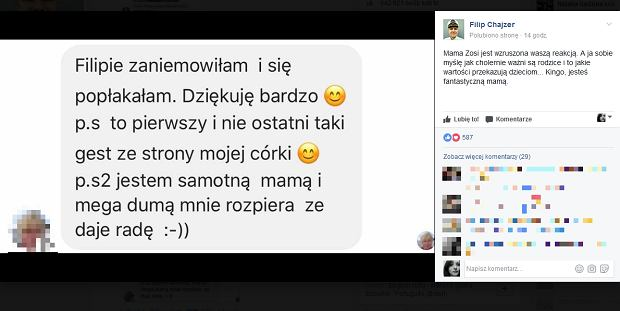Screen z facebook.com/ChajzerFilip