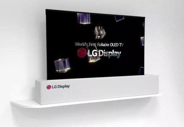 Prototyp telewizora LG ze zwijanym ekranem