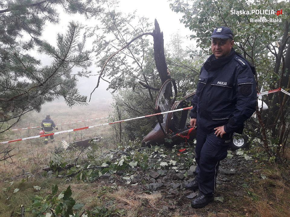 Wypadek wiatrakowca w Beskidzie Śląskim