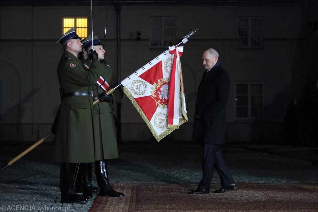 Antoni Macierewicz żegna się z MON-em, 9 stycznia 2018.