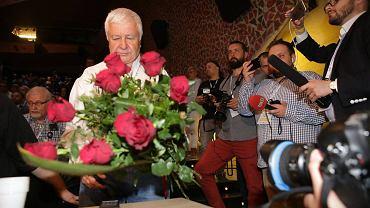 Krzysztof Łoziński - nowo wybrany szef KOD-u. I Krajowy Zjazd Delegatów KOD. CKK Jordanki, Toruń 27 maja 2017