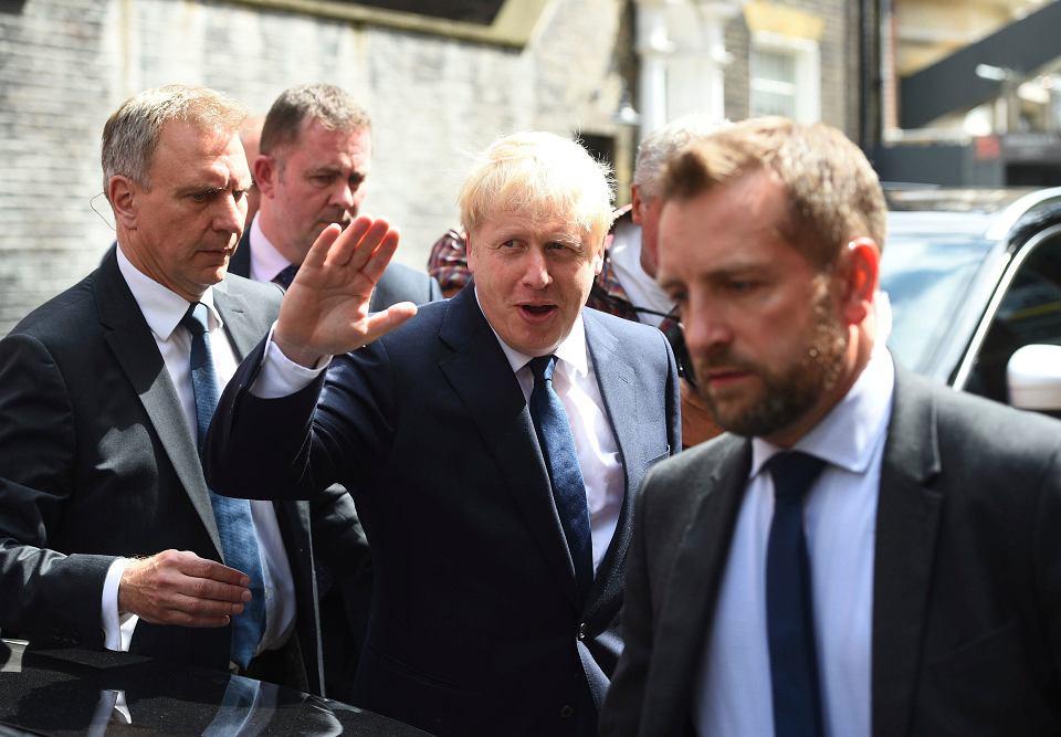 Boris Johnson przed swoim biurem. Westminster, Londyn, 22 lipca 2019