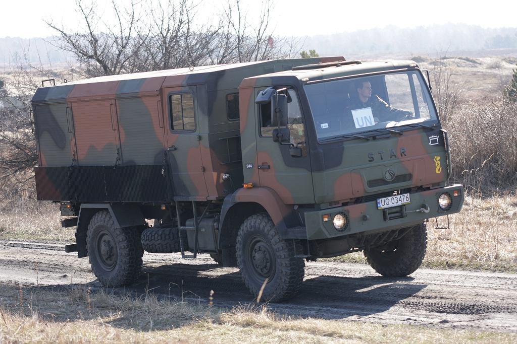Ciężarówka star należąca do wojska