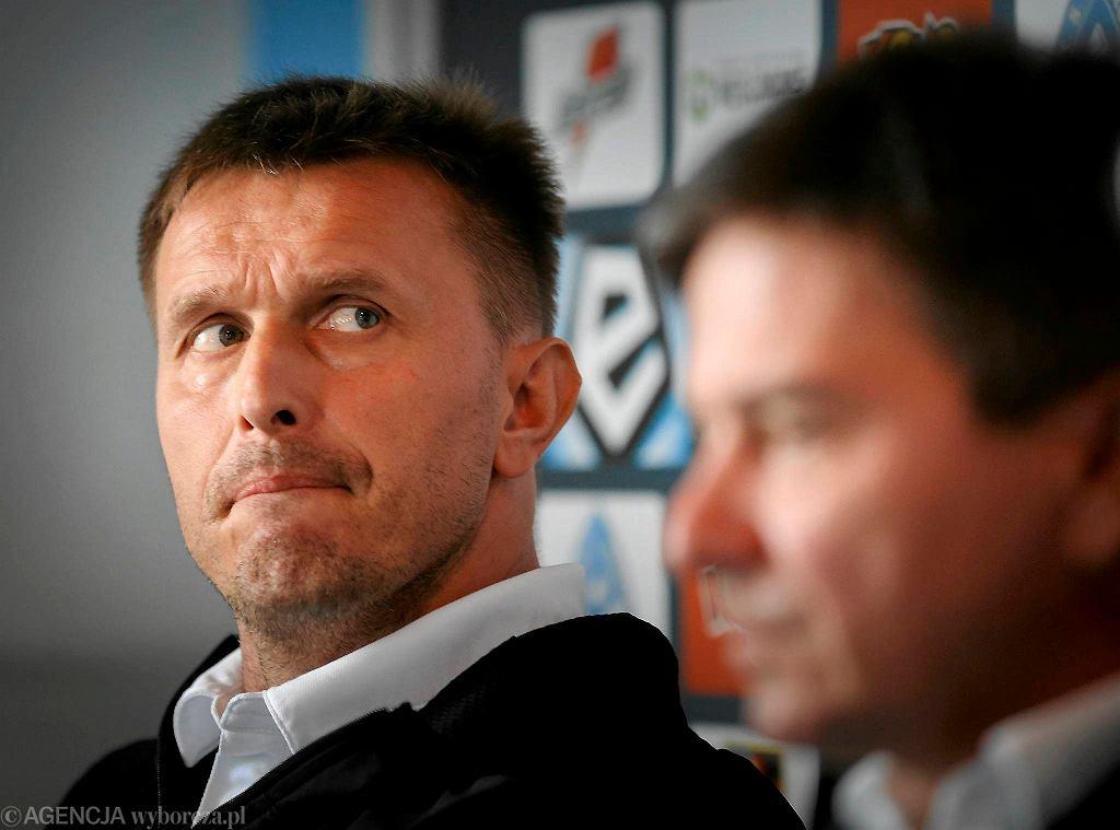 Waldemar Fornalik i Leszek Ojrzyński na stadionie Ruchu Chorzów