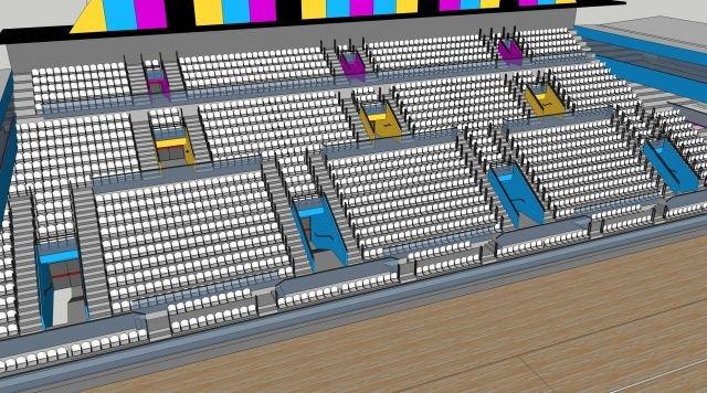 Wizualizacja Hali Sportowej przy ul. Skorupki