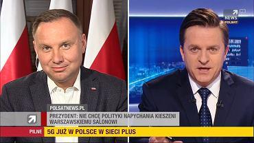 Wywiad Andrzeja Dudy dla Polsatu News