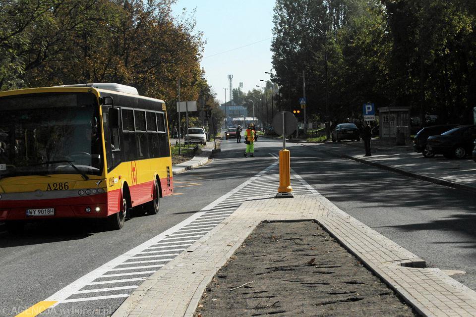 Nowo otwarta ulica Trocka na Targówku