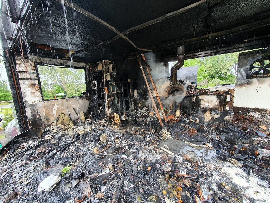 Pożar jednego z najbardziej charakterystycznych budynków we Władysławowie