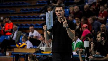 Mariusz Wiktorowicz, trener Developresu SkyRes Rzeszów. Mecz z SK bank Legionovią Legionowo 1:3