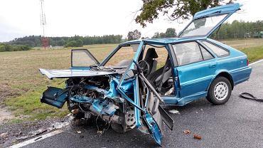 Wypadek na DK12 koło Głogowa