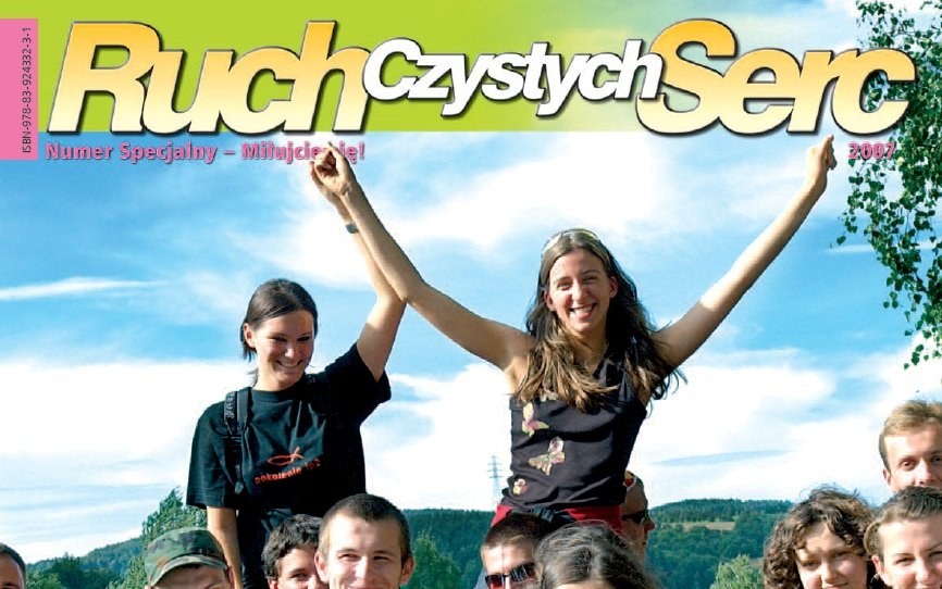 Okładka specjalnego wydania katolickiego czasopisma 'Miłujcie się!', poświęconego 'Ruchowi Czystych Serc'