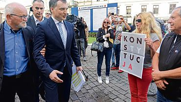 17.10.2018, Kraków, minister sprawiedliwości i prokurator generalny Zbigniew Ziobro podczas konferencji prasowej.