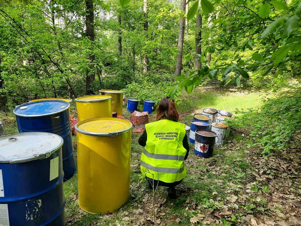 W podbydgoskich lasach porzucane są na wielkie skalę pojemniki z odpadami