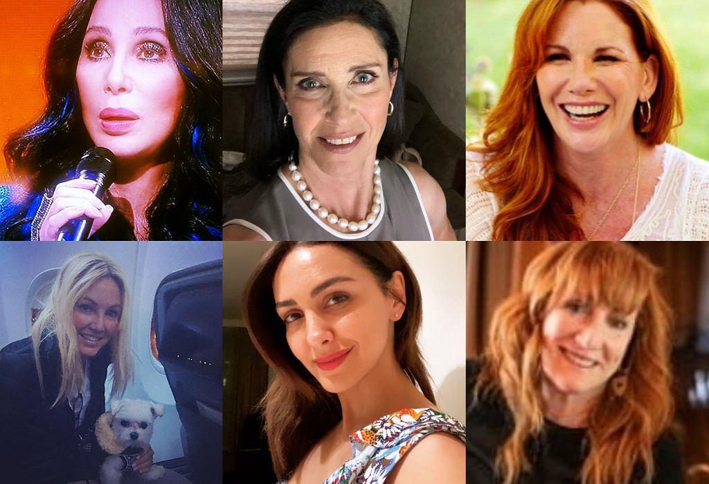 Kolejno: Cher, Mimi Rogers, Melissa Gilbert, Heather Locklear, Nazanin Boniadi, Patti Scialfa