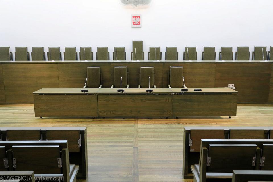 Sala rozpraw w Sądzie Najwyższym.