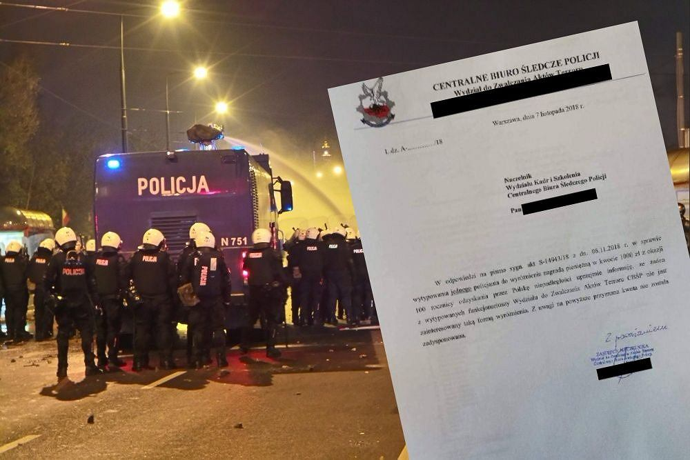 W CBŚP nie ma chętnych na 1000 zł nagrody za służbę 11 listopada