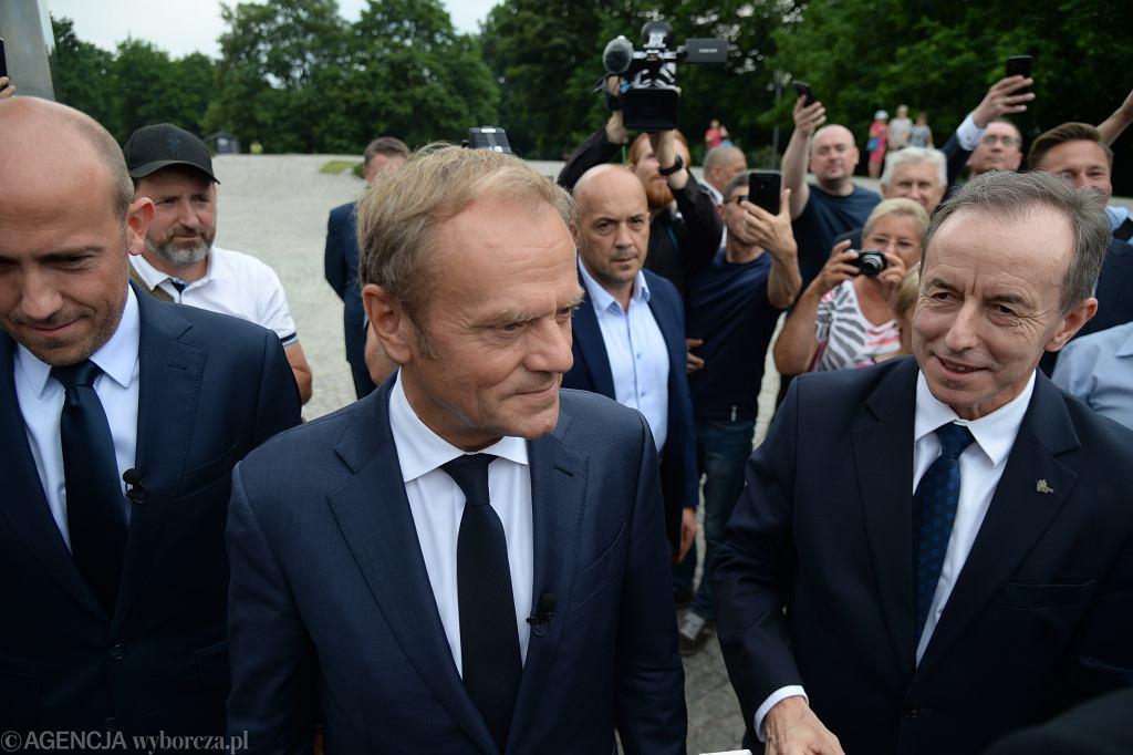 Przewodniczący PO Donald Tusk w Szczecinie