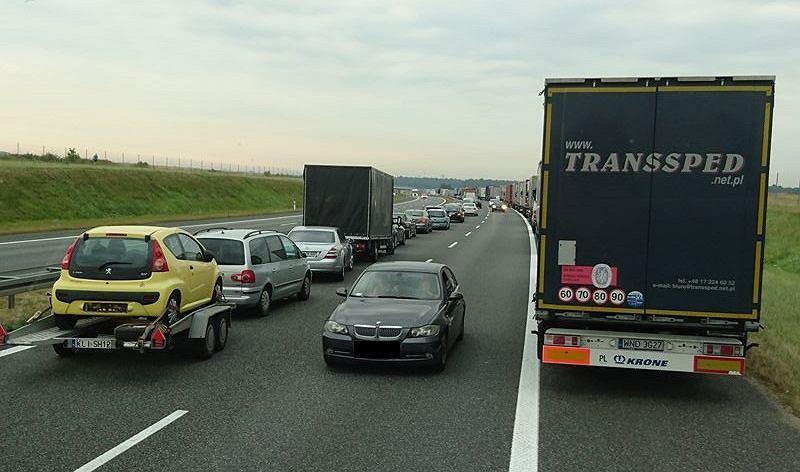 Autostrada A4 w okolicach Gliwic