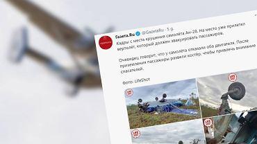 Rosja. Wszyscy przeżyli wypadek samolotu lecącego do Tomska