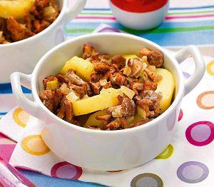 Młode ziemniaki zapiekane z grzybami