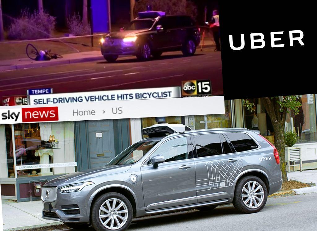 Autonomiczny, prototypowy samochód Ubera potrącił kobietę. Policja mówi o możliwym wtargnięciu