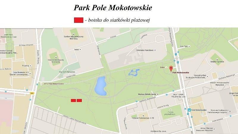 Nowe boiska do gry w siatkówkę plażową na Polu Mokotowskim