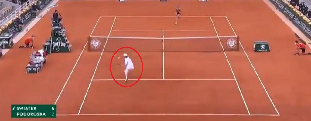 Genialne zagranie Świątek w półfinale French Open z Nadią Podoroską