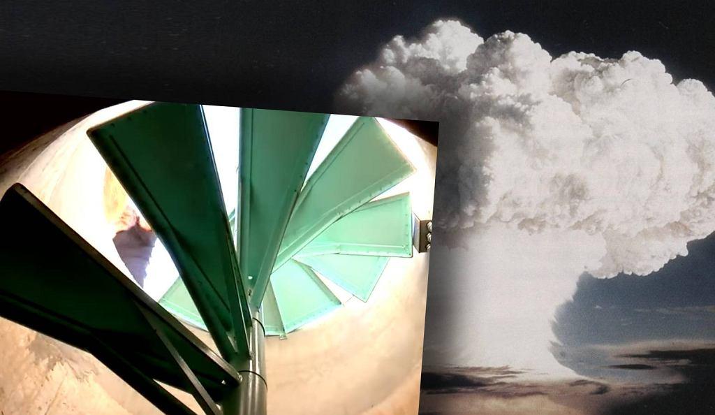Wejście do schronu przeciwatomowego odkrytego pod przydomowym basenem w Tucson