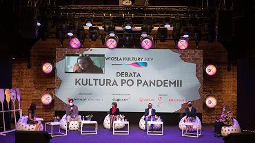 15.10.2020, Scena Monopolis w Łodzi. Debata 'Kultura po pandemii'  'Gazety Wyborczej' i Monopolis