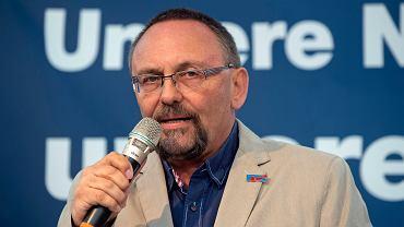 Frank Magnitz, szef struktur Alternatywy dla Niemec w Bremie i poseł do Bundestagu, który został ciężko pobity 7 stycznia 2019 r.
