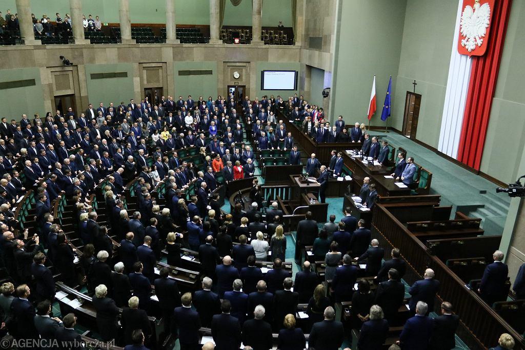 Minuta ciszy w Sejmie