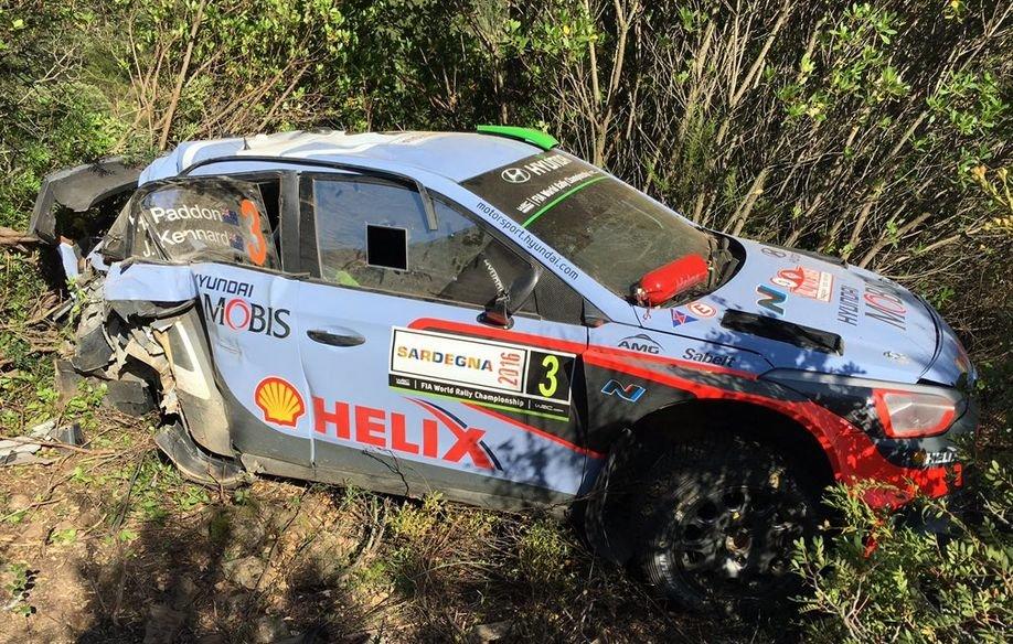 Rozbite auto Haydena Paddona