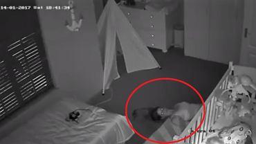 Matka nie chciała obudzić syna, więc z pokoju wyczołgała się jak prawdziwy komandos