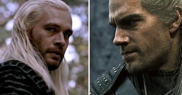 Michał Żebrowski i Henry Cavill jako wiedźmin Geralt z Rivii