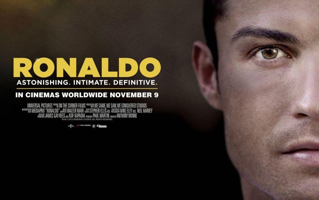 Plakat promujący film o Cristiano Ronaldo
