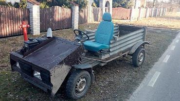 Łęczna: 42-latek jechał pojazdem własnej konstrukcji. Nie miał prawa jazdy, za to 3 promile