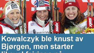 'Kowalczyk zmiażdżona przez Bjoergen' - pisze w tytule dziennik 'Dagbladet'