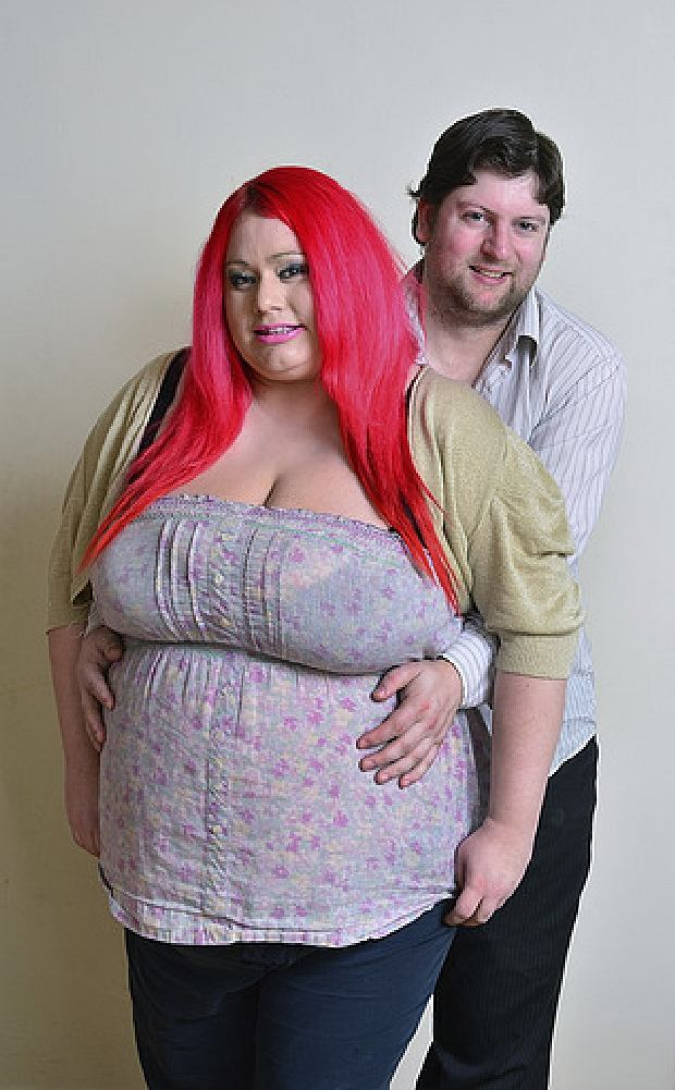 *** EXCLUSIVE - NO ONLINE USAGE UNTIL 0:01 FRIDAY APRIL 12*** DERBYSHIRE, UNITED KINGDOM - UNDATED: Claire Smedley with her partner, Chris Willgoose pose in West Hallam in Derbyshire, England. BUSTY Claire Smedley is blessed with the biggest breasts in Britain - but she is terrified they'll kill her relationship. The 30-year-old mum of three, from Derby, nearly killed her ex boyfriend when she smothered him with her 40 LL bust. Now her boobs weigh a staggering 2.5 stone each after growing to 40MMM - and she's worried she could injure new boyfriend Chris Willgoose, 30. PHOTOGRAPH BY John Robertson / Barcroft Media UK Office, London. T +44 845 370 2233 W www.barcroftmedia.com USA Office, New York City. T +1 212 796 2458 W www.barcroftusa.com Indian Office, Delhi. T +91 11 4053 2429 W www.barcroftindia.com PHOTOGRAPH BY John Robertson / Barcroft Media UK Office, London. T +44 845 370 2233 W www.barcroftmedia.com USA Office, New York City. T +1 212 796 2458 W www.barcroftusa.com Indian Office, Delhi. T +91 11 4053 2429 W www.barcroftindia.com