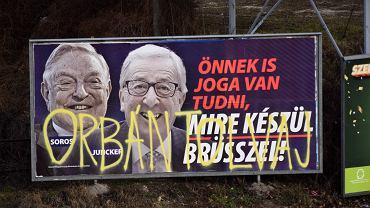 Billboard węgierskiej kampanii przeciwko migracji