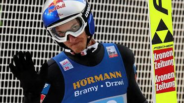 Gregor Schlierenzauer podczas 68. Turnieju Czterech Skoczni. Innsbruck, Austria, 4 stycznia 2020