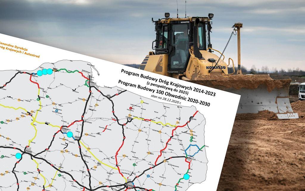 GDDKiA ogłosiła plan na budowę dróg w roku 2021