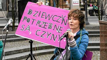 Kazimiera Szczuka na pierwszej bydgoskiej manifie