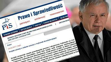Jarosław Kaczyński i projekt PiS