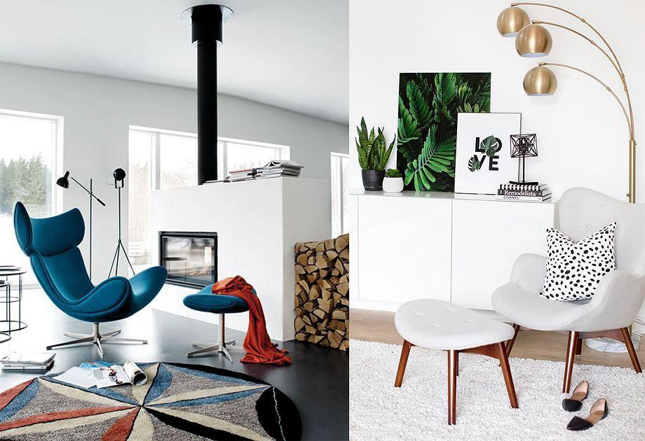 Fotel z podnóżkiem w nowoczesnym wydaniu