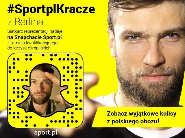 Andrzej Wrona relacjonuje kwalifikacje do igrzysk na Snapchacie Sport.pl