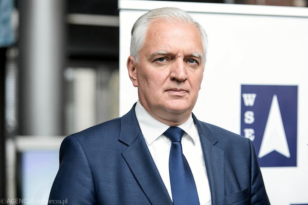 Minister nauki i szkolnictwa wyższego Jarosław Gowin/